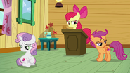 Apple Bloom sees that her friends are staring at their cutie marks S6E3