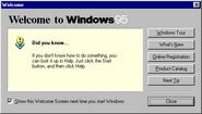 Windows95b welcome