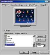 Windows98 display