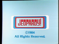 1984 Jeopardy! Closing Logo
