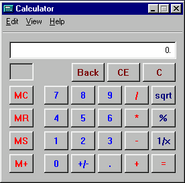 Windows95 calculator