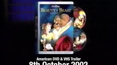 Beauty and the Beast Platinum Edition Final Trailer (2002 VHS DVD, USA)