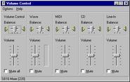 Windows95 volumecontrol