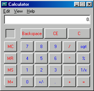 Windows98 calculator