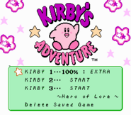 Kirbysadventure select