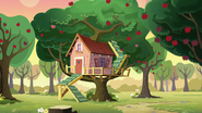 The Cutie Mark Crusaders' clubhouse S6E3