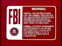 Disney Maroon Red FBI Warning (1986) Remake