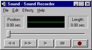 Windows95 soundrecorder