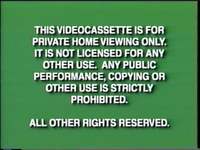 Disney Green Warning (1997) VHS