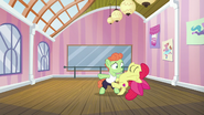 Apple Bloom dancing passionately S6E4