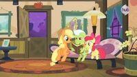 "My Little Pony Friendship is Magic ""Apple Family Reunion"" (Clip 2) - The Hub"