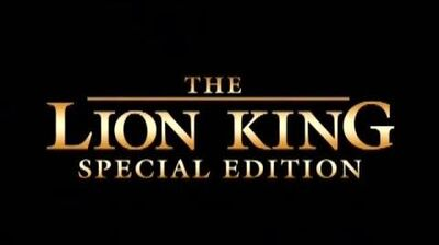 The Lion King - Platinum Edition DVD Trailer 1