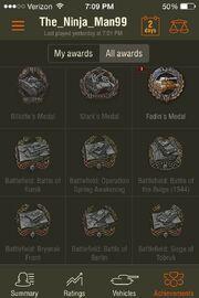 Battlefield Achievements, WoT Assistant