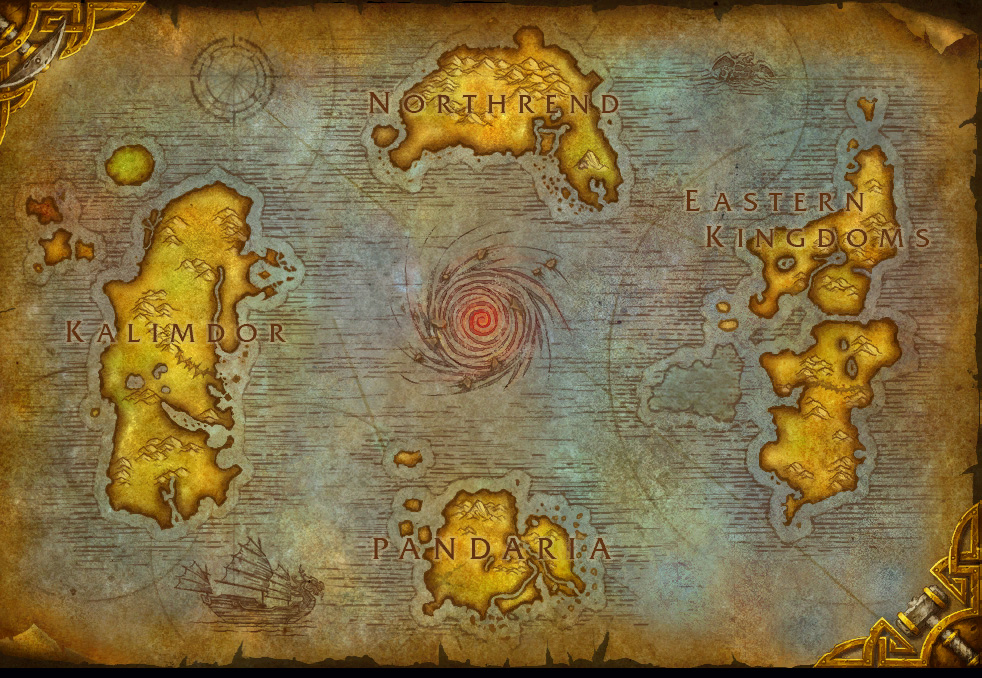 The worlds of azeroth outland and draenor world of warcraft rpg worldmap world gumiabroncs Image collections