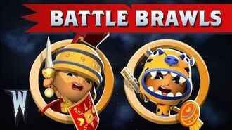 Official World of Warriors Battle Brawls 1 Brutus vs Zuma!