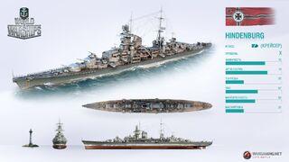 German Cruiser Hindenburg