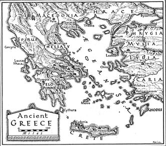 Map of Ancient Greece I