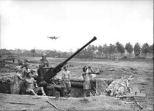 Milne Bay AA Battery, 1942