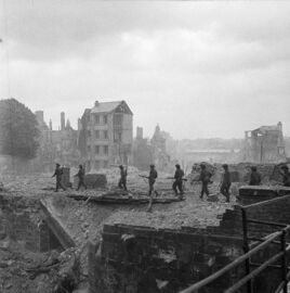 Royal Engineers clearing Mines, Caen 1944