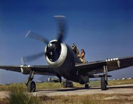 RAF Thunderbolt Mk II readying for take-off, Burma January 1945