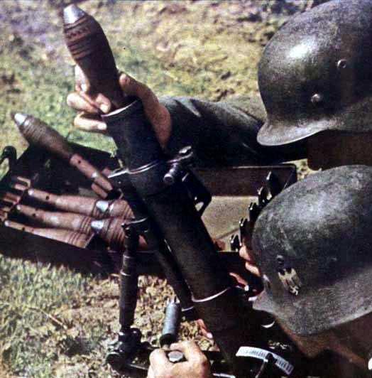 Image result for German 5 cm Granatwerfer 36 mortar bomb