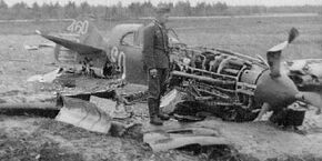Lavochkin-LaGG-3 Crash