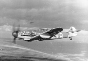 Bf 109 in flight 1943