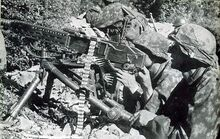 7th SS Volunteer Prinz Eugen Division troops with an MG 37(t)