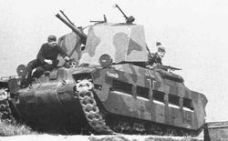 5 cm KwK 38 L-42 auf Matilda (e) in a practice operation, Circa 1942
