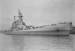 USS Washington collision damage repaired NARA BS 63999