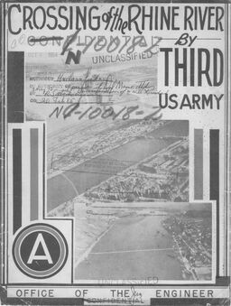 After Action Report Cover for the Third Army, Crossing the Rhine