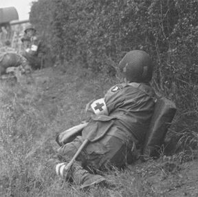 US Medic of 506th Parachute Infantry Regiment at Drop Zone C, September 17, 1944, Market Garden