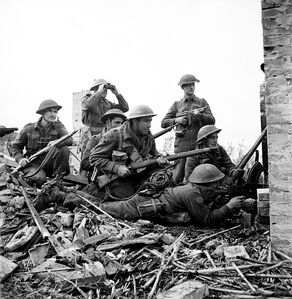 Highlanders fighting in Ortona, December 10, 1943