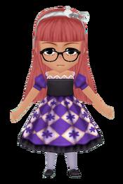Retro Kid's Dress - Purple (Female)