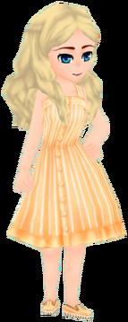 Hamoan Outfit - Orange (Female)