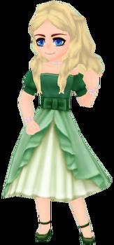 Elegant Dress - Green (Female)
