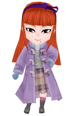 Lilac fishing coat girl