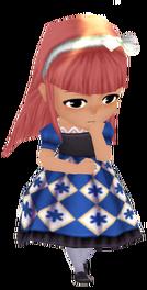 Retro Kid's Dress - Navy (Female)