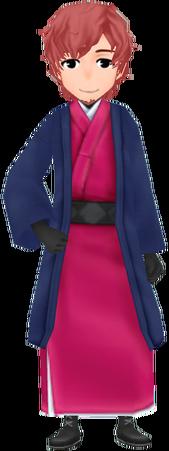 Stylish Kimono - Crimson (Male)