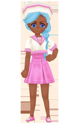 Summer Sailor Uniform Pink Woman