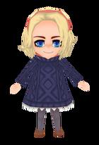 Navy Child's Sweater (Female)