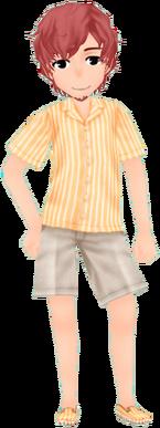 Hamoan Outfit - Orange (Male)