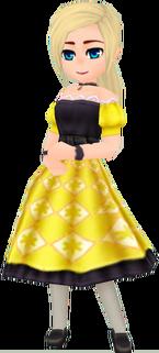 Retro Dress - Yellow (Female)