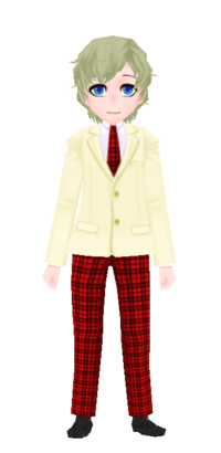 Checkered Uniform White Red m