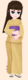 Light Yellow Yukata Female