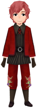 Crimson Floral Ancestral Garb (Male)