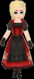 Crimson Ancestral Floral Garb (Female)