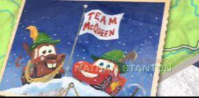 Team McQueen climbed the Mater-Horn.