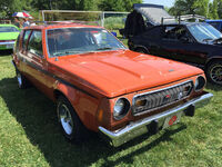 1974 AMC Gremlin X Sienna Orange with black stripes AMO 2015 meet 1of2 (1)