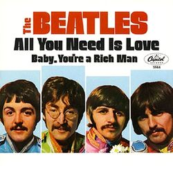 All You Need Is Love (Beatles single - cover art)